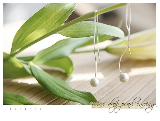 韩国明星-高音符号珍珠耳线(已售完)|韩国饰品批发