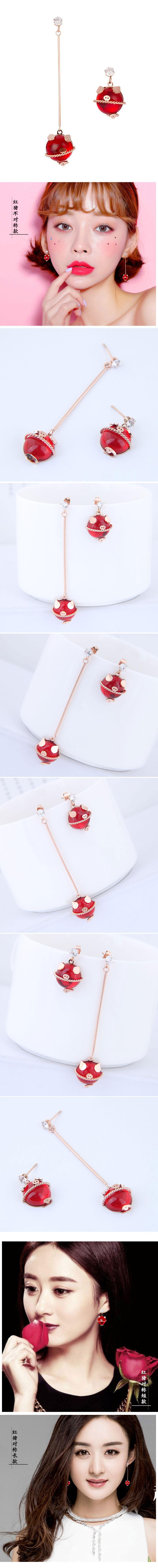 Titanium&Stainless Steel Fashion earringNHSC53817