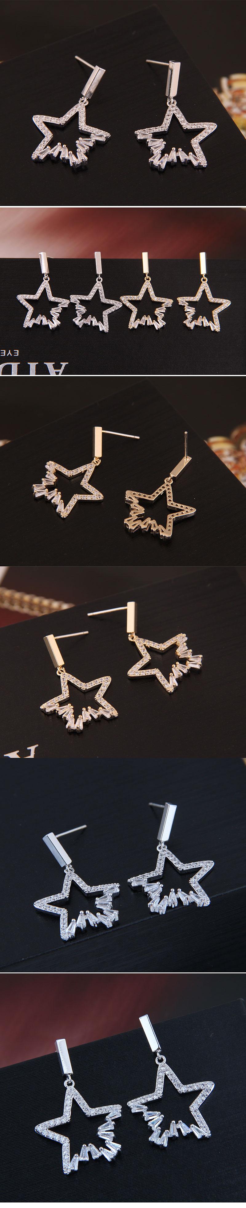 Copper & Zircon Earring Korea NHSC200203