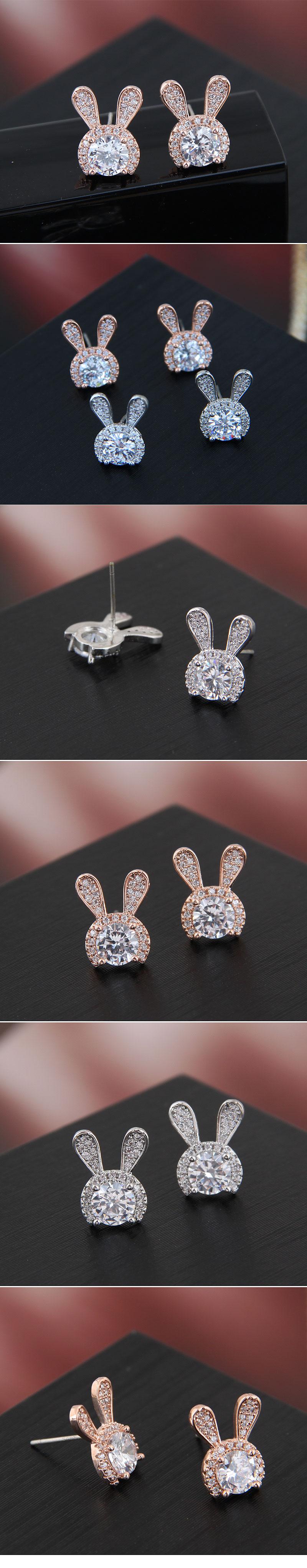 Copper & Zircon Earring Korea NHSC200199