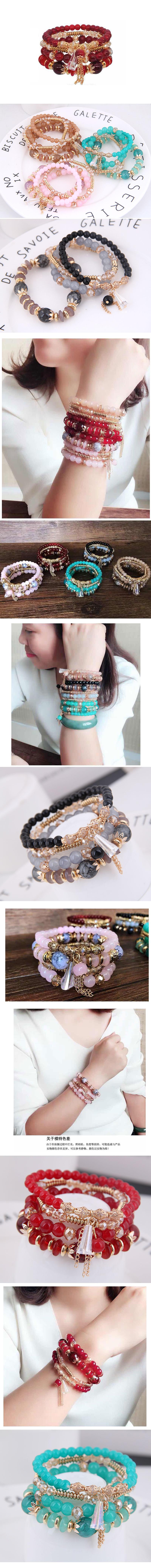 Imitated crystal beads Bracelet Korea NHSC200211