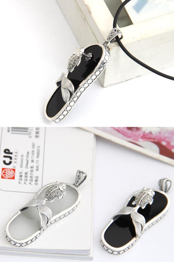 281538金鱼拖鞋吊坠|韩国饰品批发|欧美饰品批发
