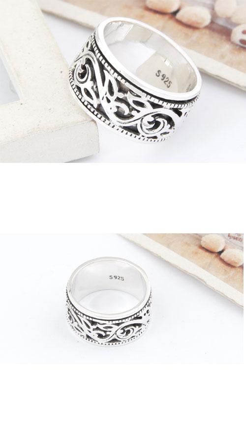 1500030平安花纹男士戒指 韩国饰品批发 银饰批发 银